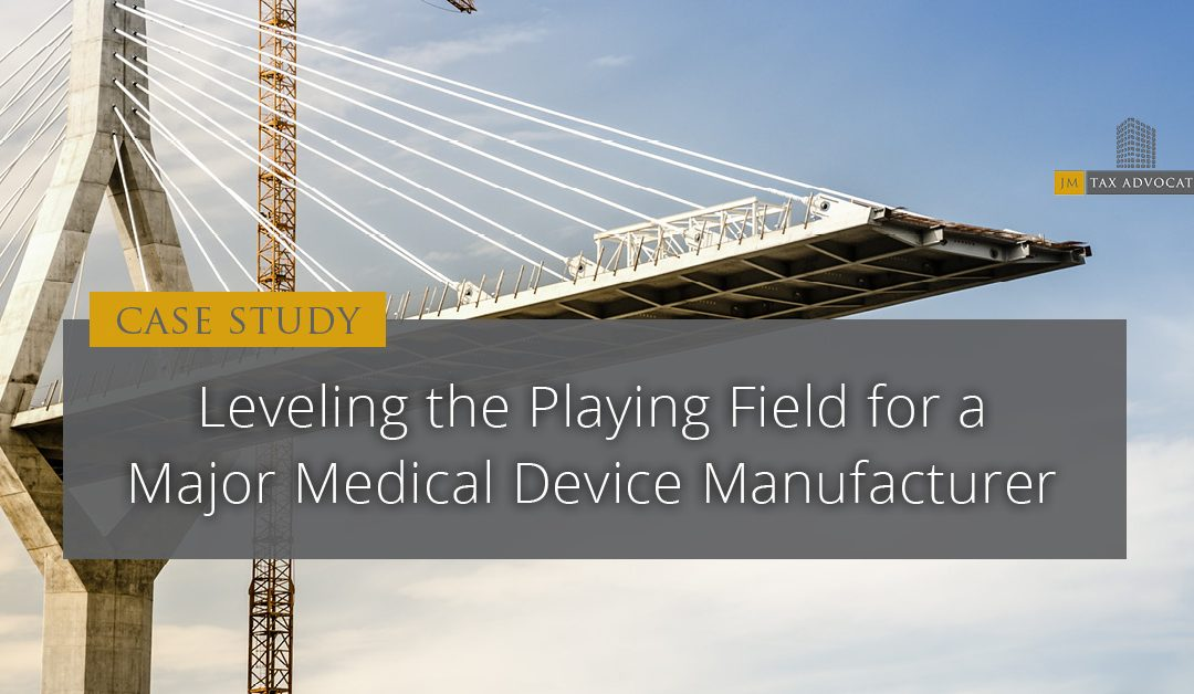 Leveling the Playing Field For a Major Medical Device Manufacturer